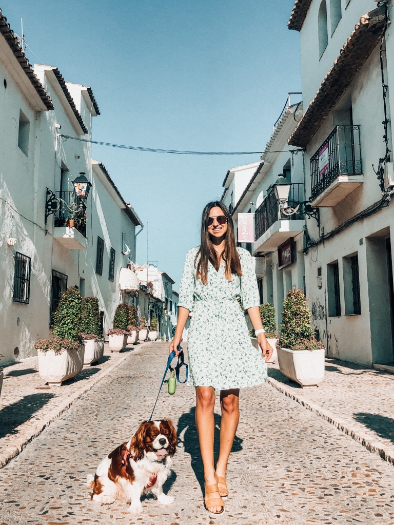 Walking through Altea with my cavalier King Charles spaniel during lockdown