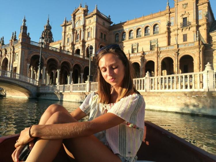 On the boats at plaza de España Seville