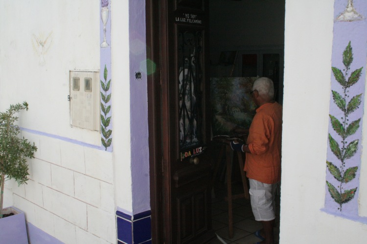 artist working in altea