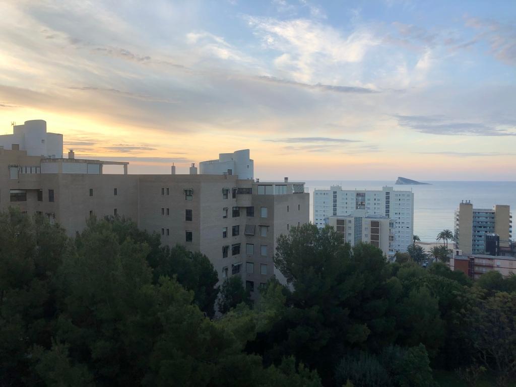 Sunrise in Benidorm lockdown