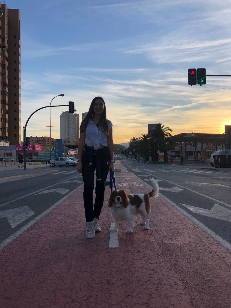Watching the sunset Benidorm Spain