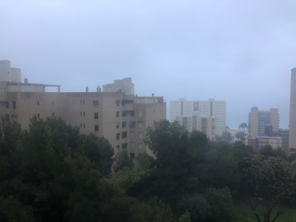Rainy  day in Benidorm