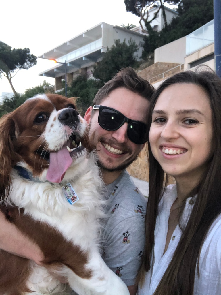 Family photo on daily exercise Spain