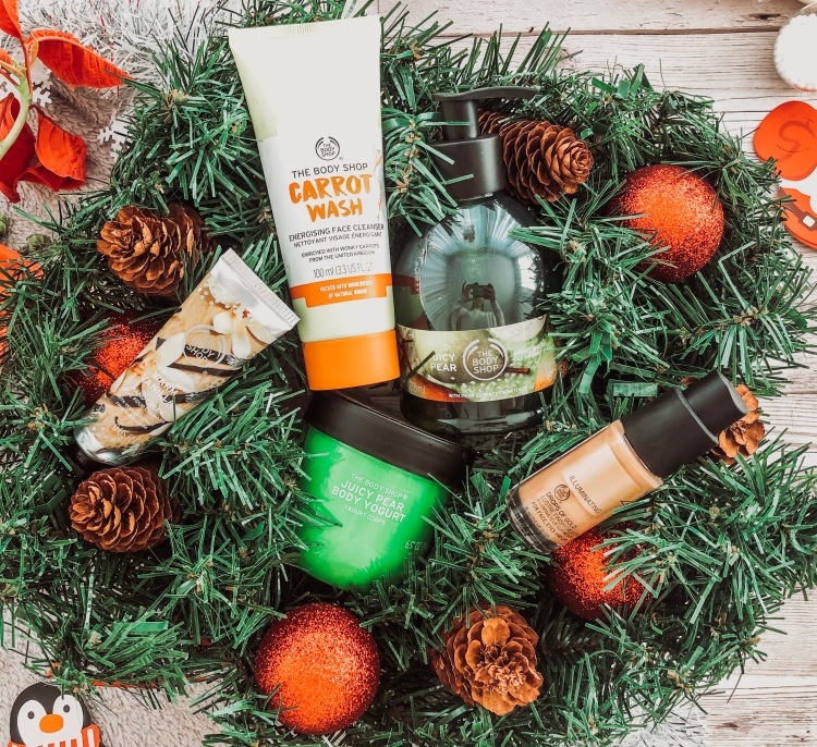 the body shop christmas festive flatlay
