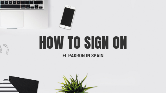 how to sign on el padron
