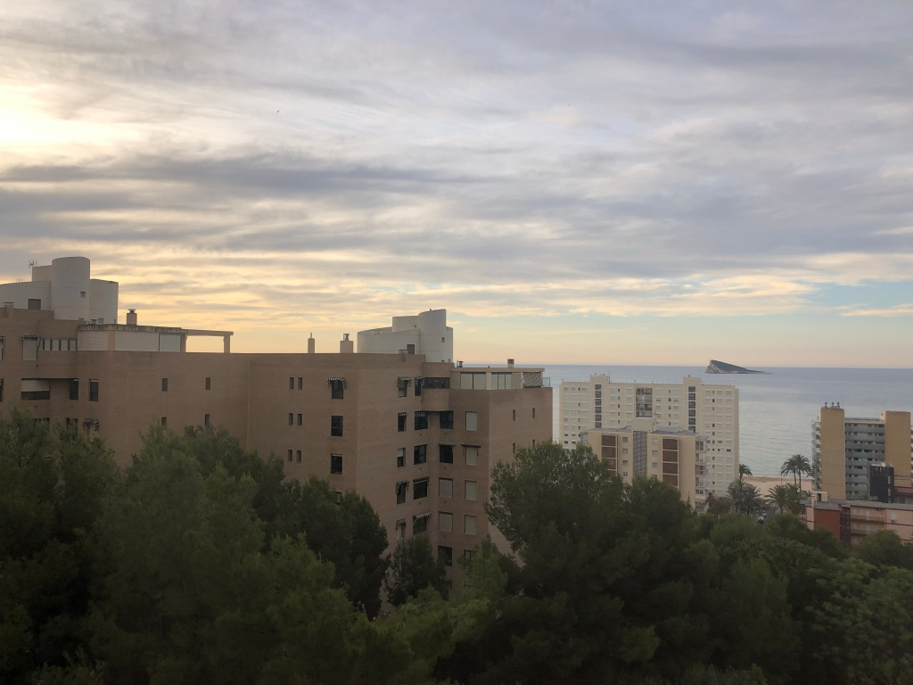 Morning sunrise Benidorm lockdown
