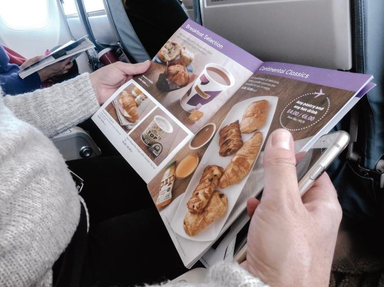 browsing flybe menu to edinburgh