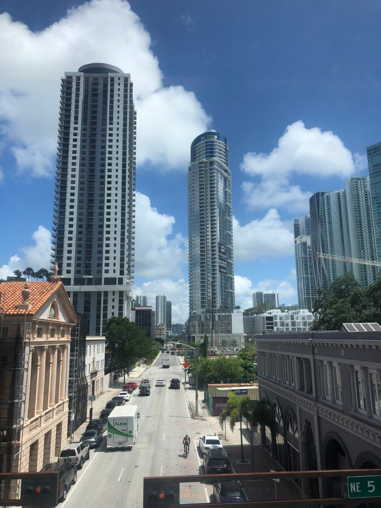 view from public transport miami