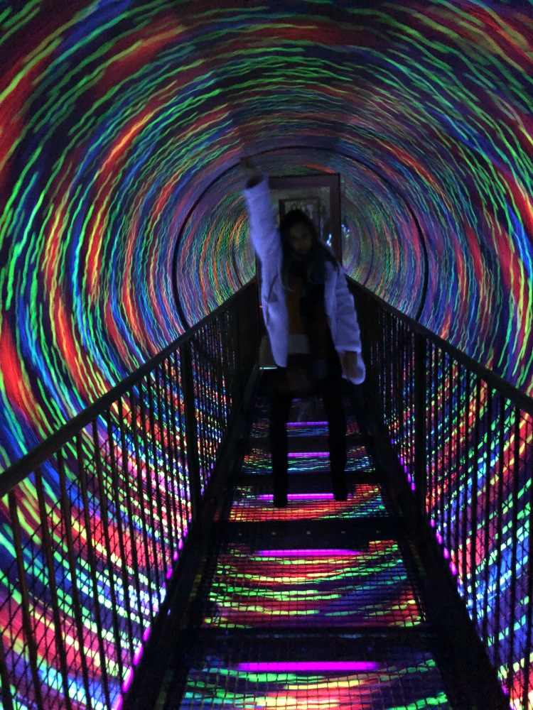 dancing in camera obscura lights tunnel