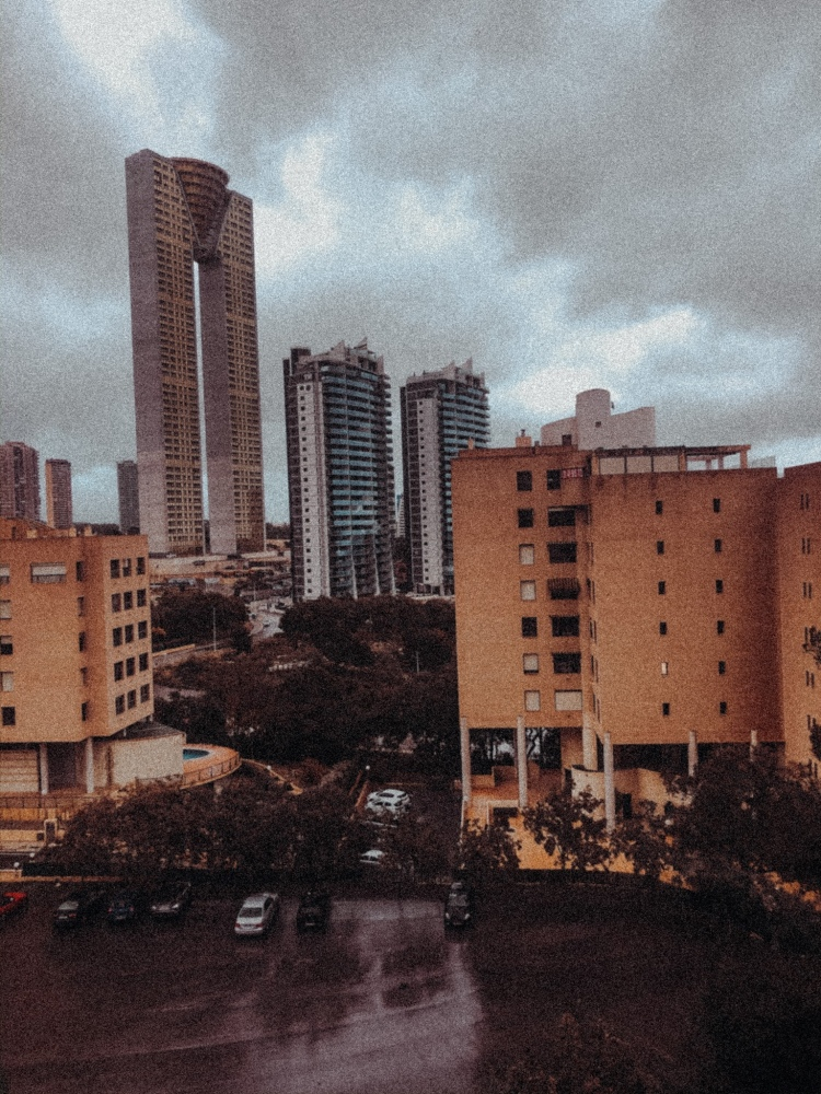 Dark sky gota fría over intempo building Benidorm
