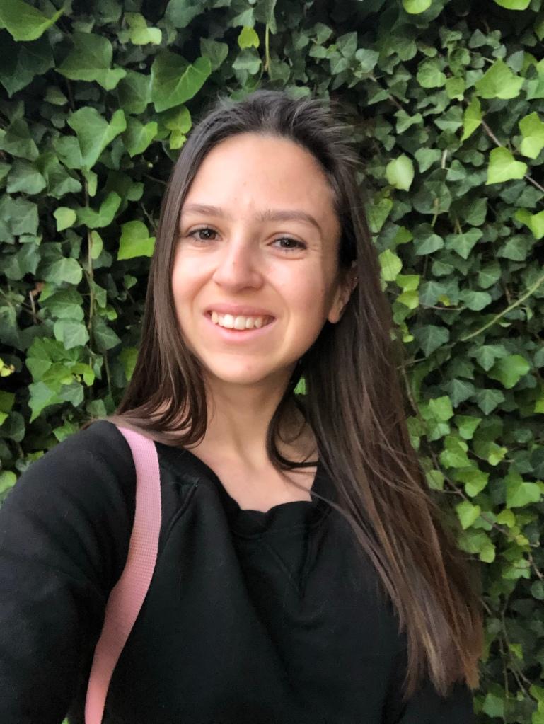 Smiles in the garden in my Calvin Klein jumper