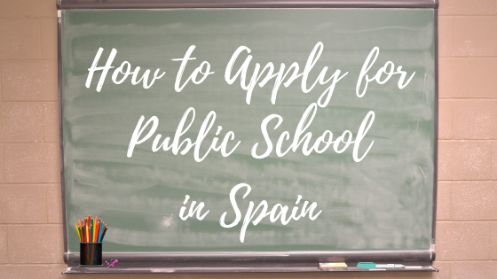 how to apply for a public school in spain written on whiteboard