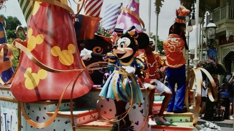 Minnie Mouse on the Float at DisneyWorld