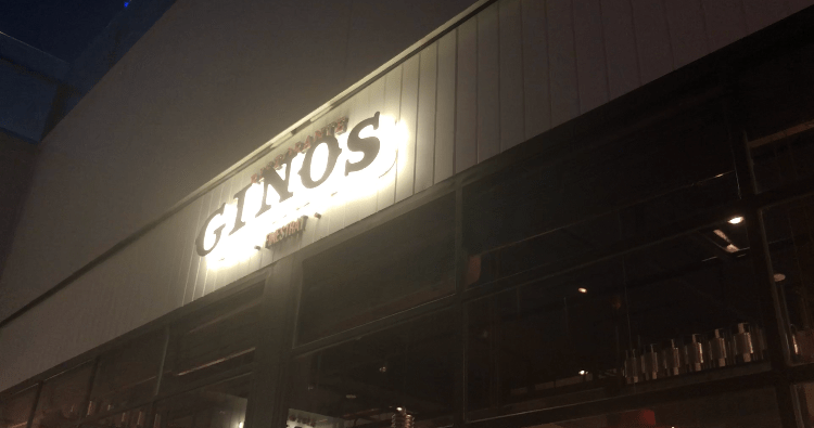 Gino's Finestrat Italian Restaurant Neon Sign