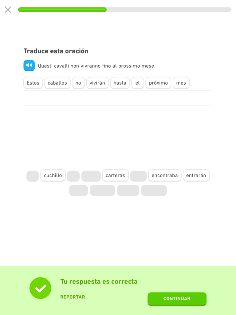 Learning Italian from Spanish