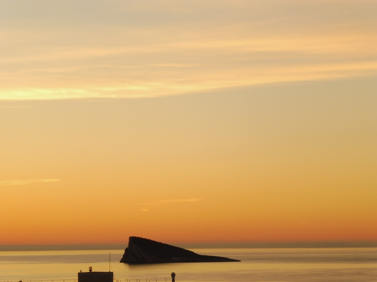 spectacular sunrise weather in benidorm in december benidorm island