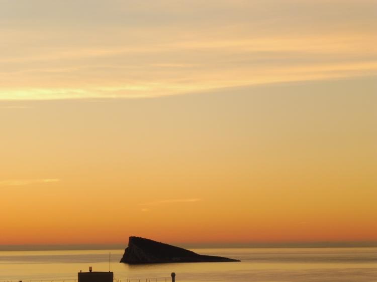 spectacular sunrise weather in benidorm in december benidorm island