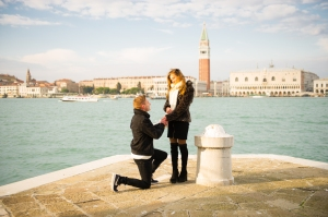 engagement in venice with san marco in the background