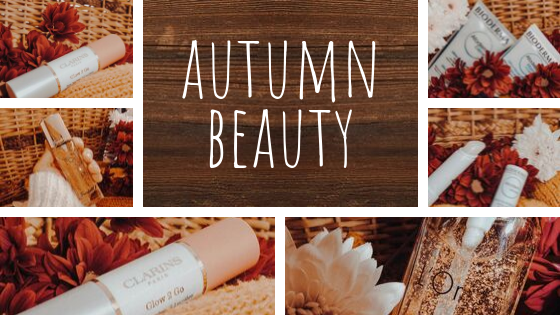 compilation of products for autumn beauty 2019