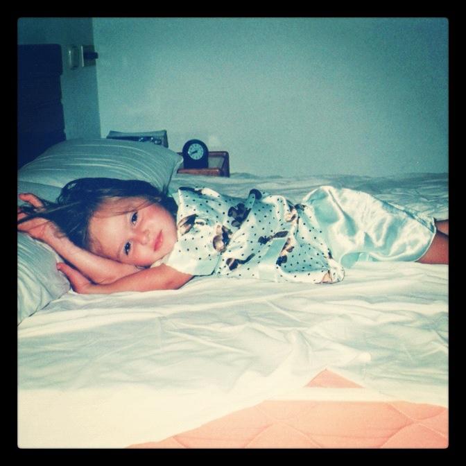 Baby Lauren in Tenerife in bed