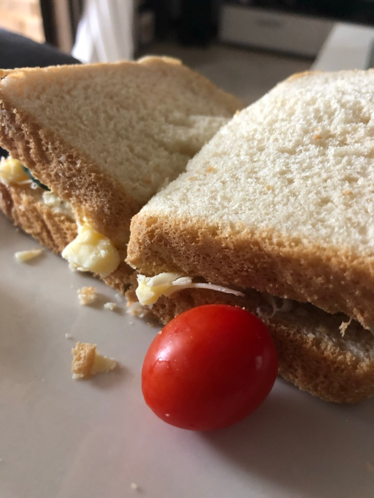 My favourite cherry tomatoes and a cheese salad sandwiches