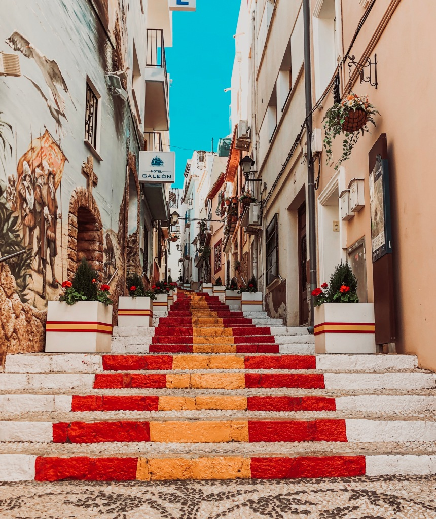 spanish steps calpe spain