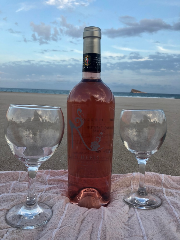 Croatian Rose Wine on Benidorm Beach
