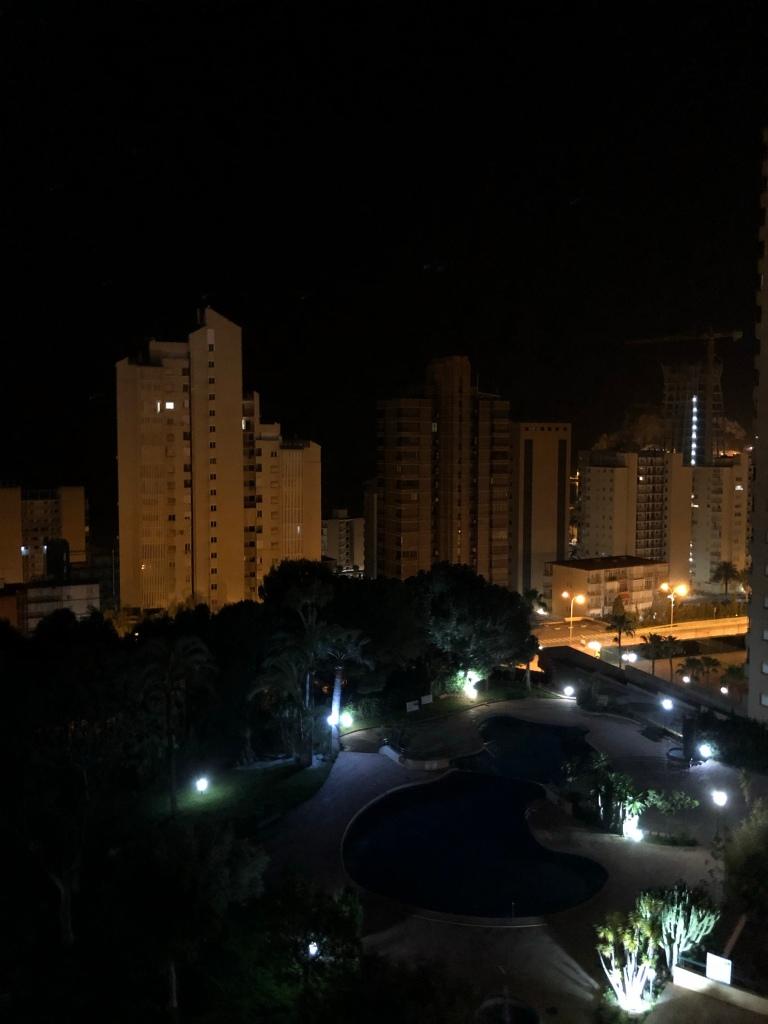 Nighttime in Benidorm lockdown