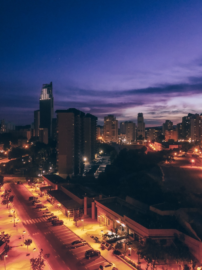 The beautiful Benidorm night sky Benidorm lockdown 2020