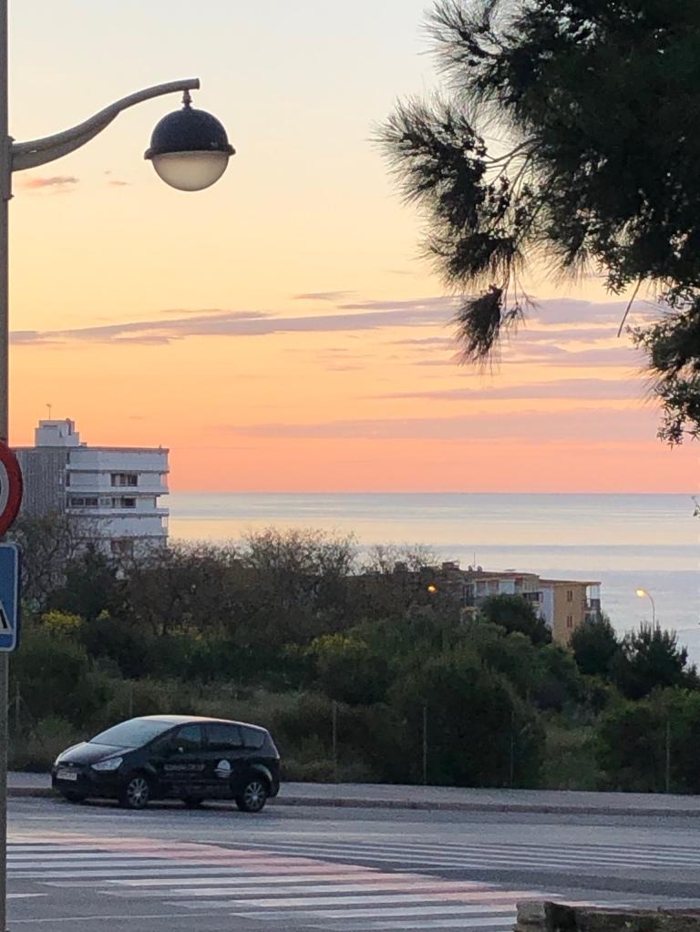 Sunrise over the sea benidorm