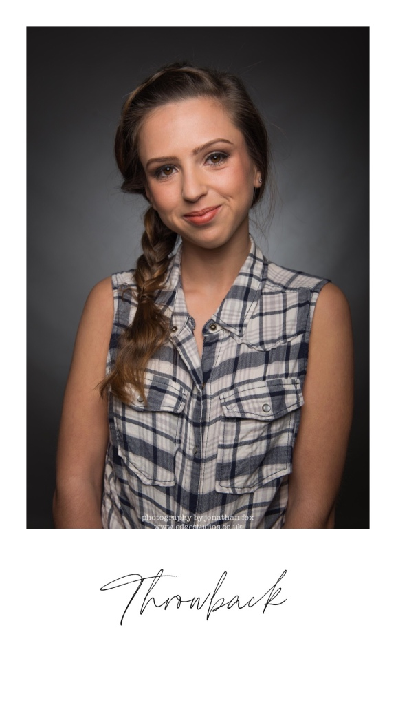 Throwback photo of Lauren modelling