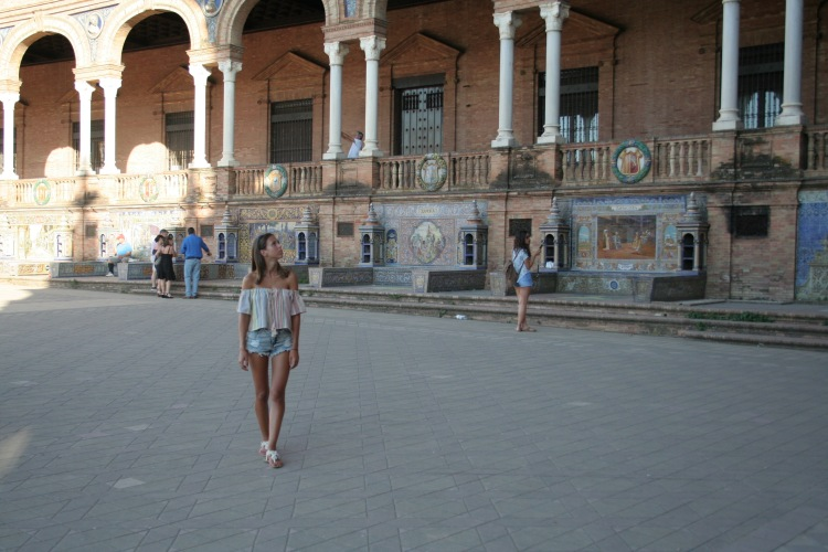 Walking around plaza de España Spain