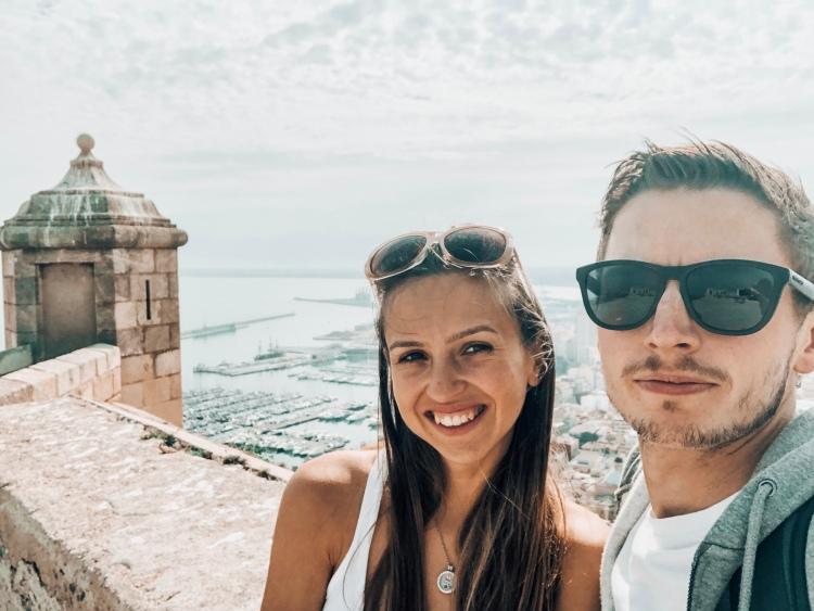 Couple at Alicante castle