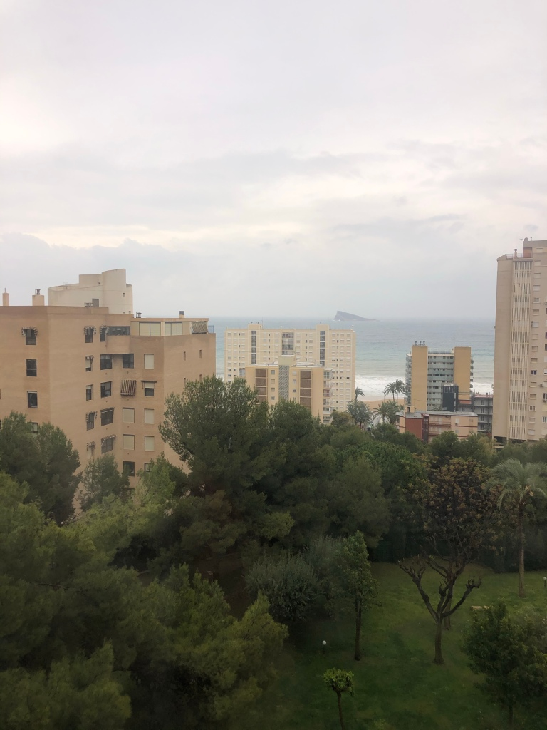 Cold and rainy day in benidorm lockdown