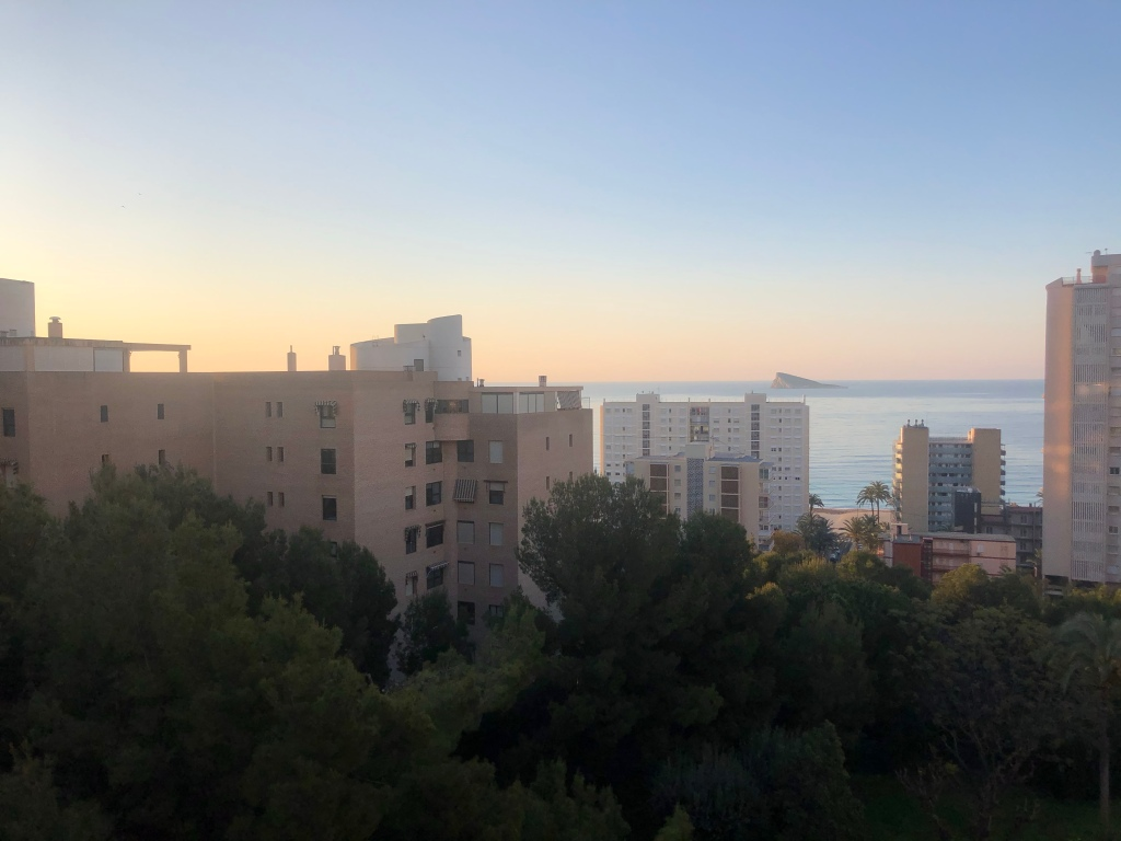 Benidorm sunrise April 2020