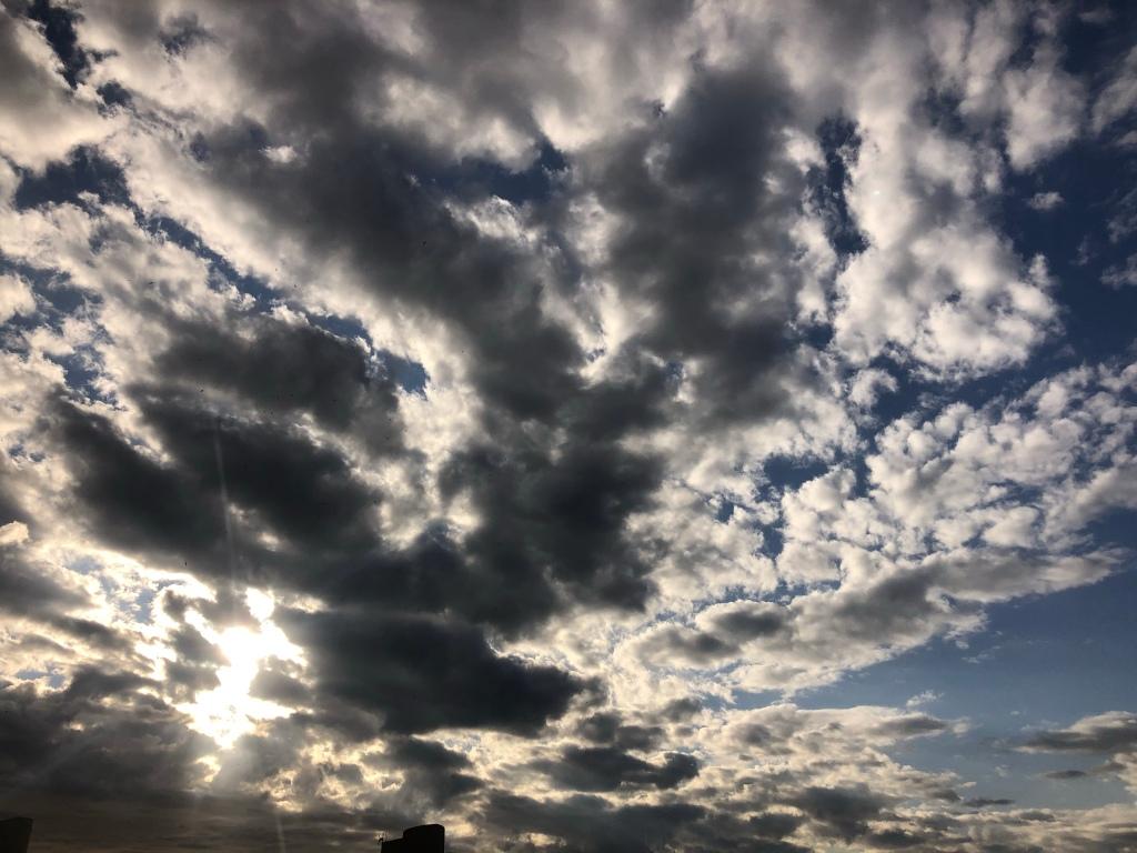 Grey rain clouds over Benidorm