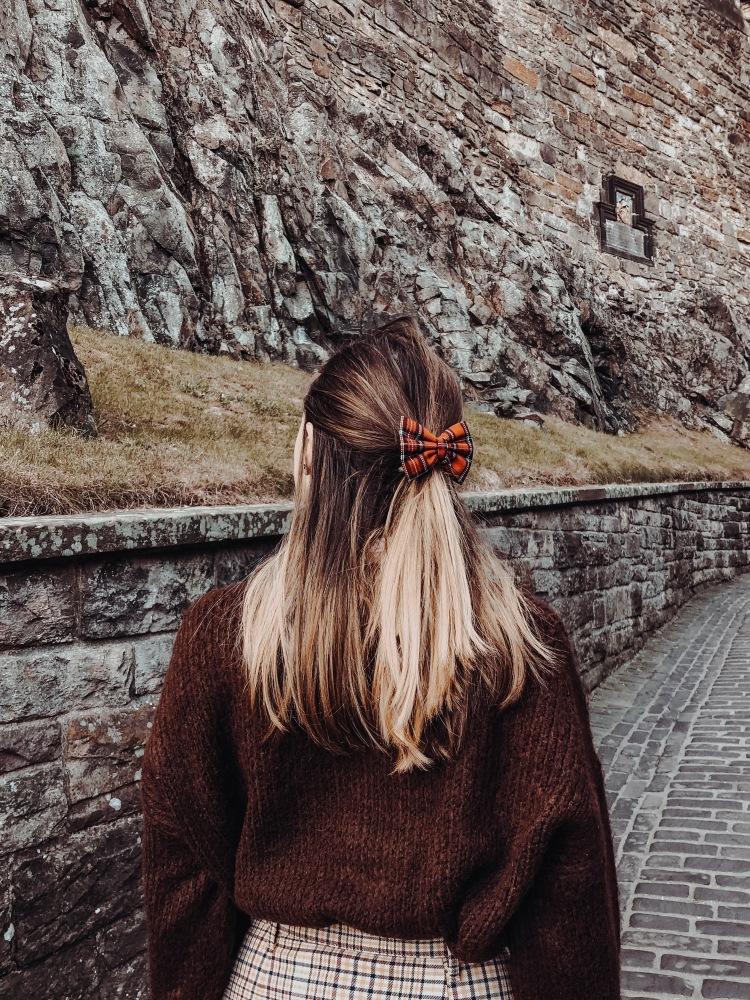 walking through edinburgh castle