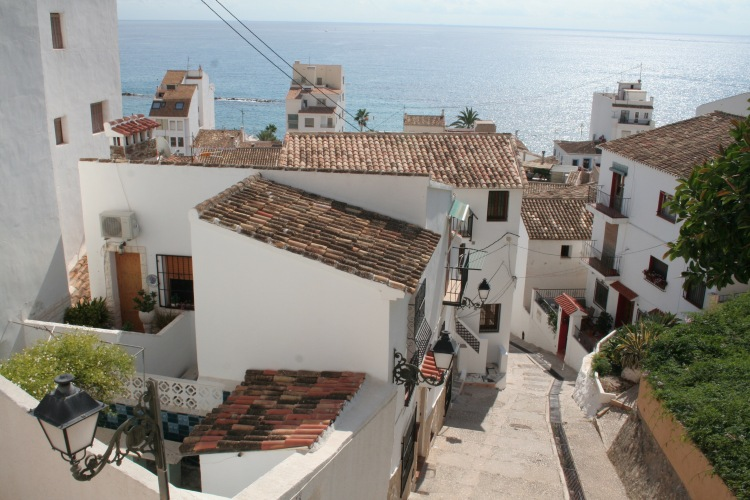 view of the houses and sea in altea