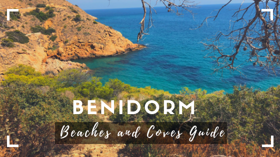 cove with the caption Benidorm beaches and coves guide
