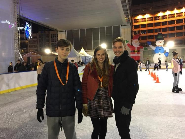 diary of a spanglish girl partner and brother at ice skating benidorm