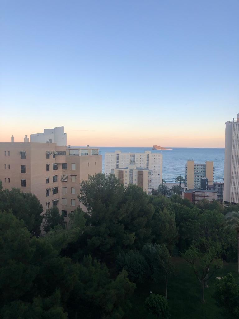 Sunset over Benidorm poniente