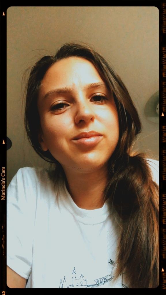 Vintage selfie after using Pixi skincare Polaroid image