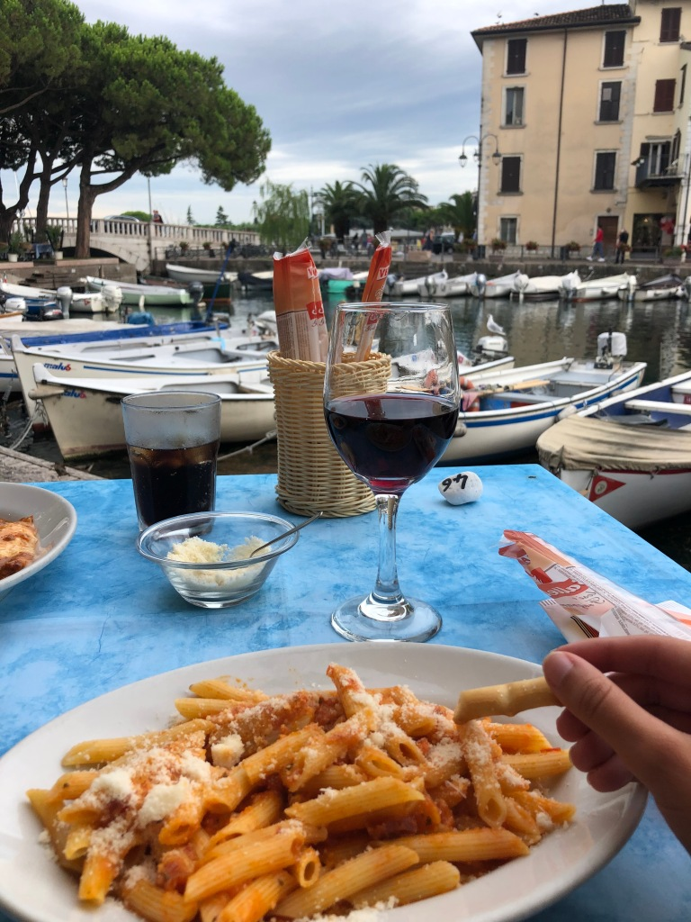 desenzano del garda travel guide dinner in garda pasta and wine
