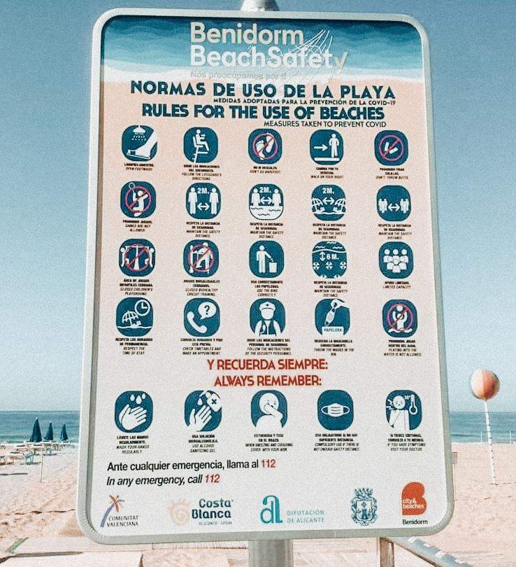 benidorm beach rules