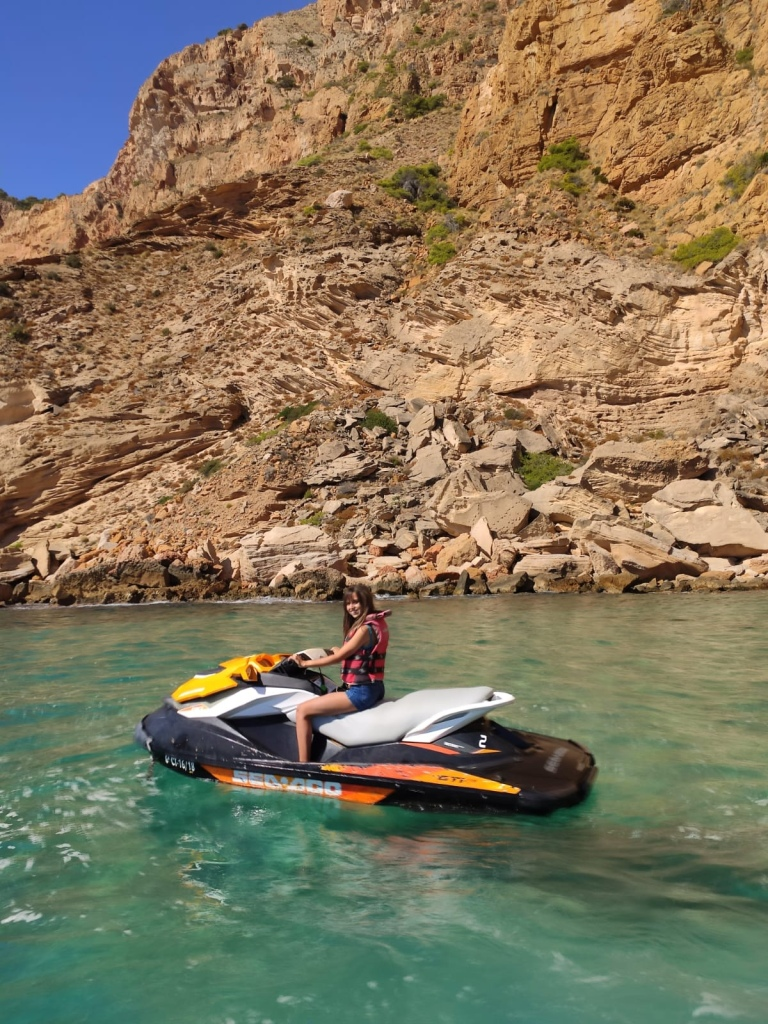 Jet skiing in Benidorm digital nomad