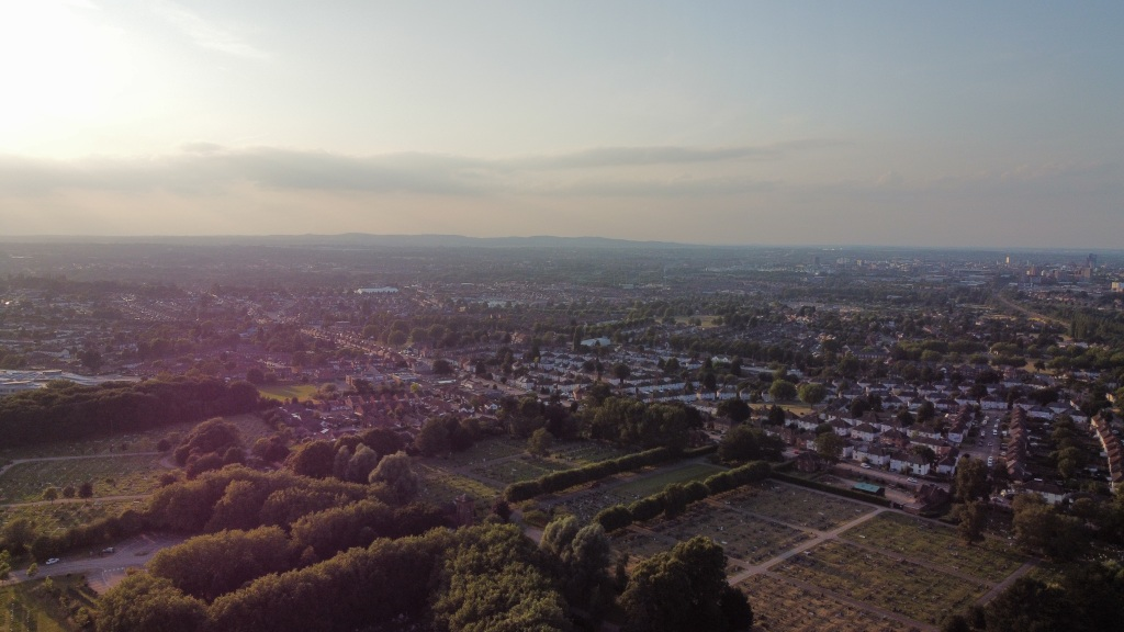 drone flying over Leicestershire